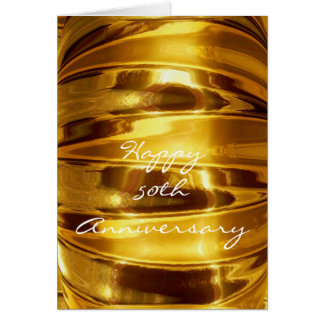 Happy 50th Anniversary in Sparkling Gold Card