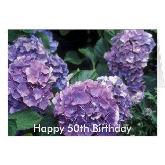 Happy 50th Birthday Flower Card