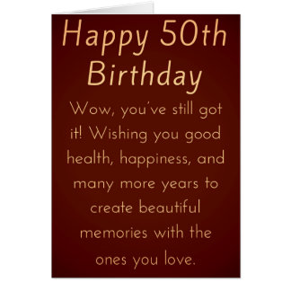 50th birthday cards for her choice image birthday cake decoration 50th for her birthday cards invitations zazzle happy 50th birthday for him or her card searchgroupfo bookmarktalkfo Gallery