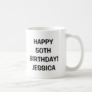 Happy 50th Birthday mug | Personalizable age year