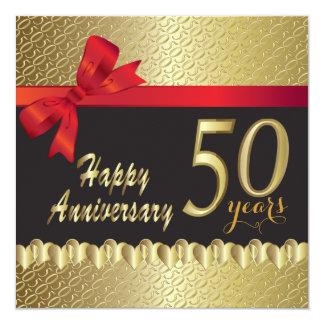 Happy 50th Golden Heart Anniversary Card