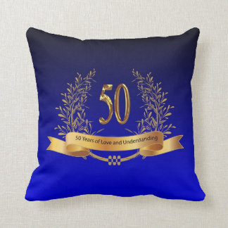 Happy 50th Wedding Anniversary Gifts Throw Pillow