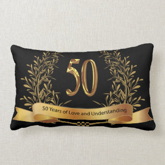 Happy 50th Wedding Anniversary Polyester Pillow