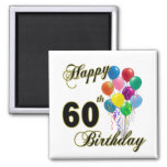 Happy 60th Birthday Gifts and Birthday Apparel Refrigerator Magnet