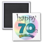 Happy 70th Birthday Square Magnet