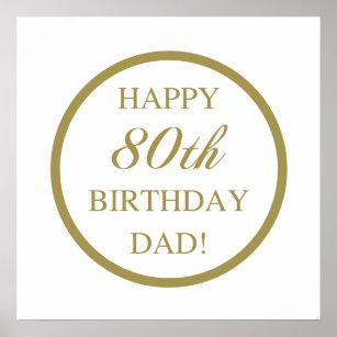 Happy 80th Birthday Dad Poster