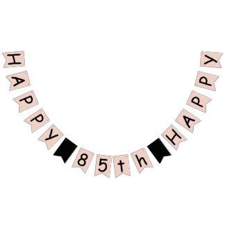 Happy 85th Birthday Blush Pink Bunting