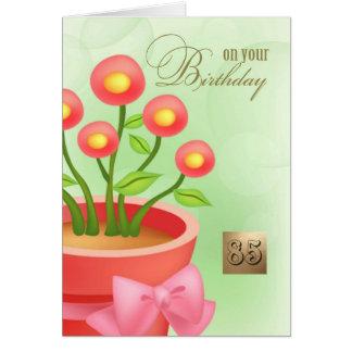 Happy 85th Birthday. Floral design Custom Cards