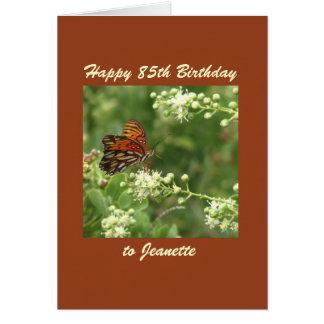 Happy 85th Birthday Greeting Card Butterfly Custom
