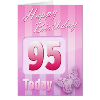 Happy 95th Birthday Grand Mother Great-Aunt Mum Greeting Card