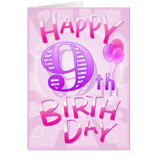 Happy 9th birthday cards gallery birthday cake decoration ideas happy 9th birthday cards choice image birthday cake decoration ideas happy 9th birthday cards invitations zazzle bookmarktalkfo Images