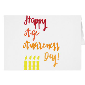 Happy age awareness day funny birthday greeting card