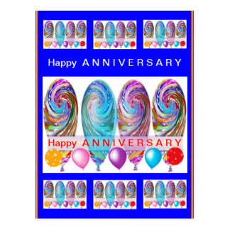 Happy ANNIVERSARY :Editable text Let CHANGE Postcard