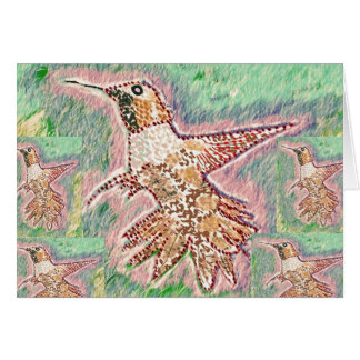 Happy Anniversary : Humming Bird Card