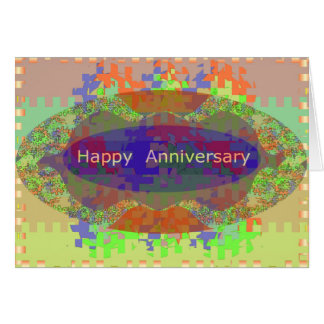 Happy Anniversary - Oriental Art Emotional Touch Card