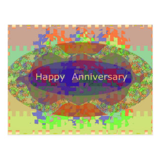 Happy Anniversary - Oriental Art Emotional Touch Postcard