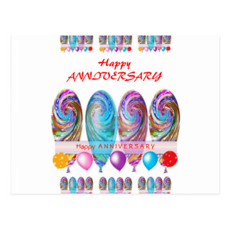 Happy ANNIVERSARY: Txt editable any occassion Postcard
