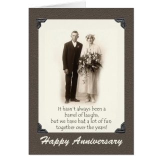 Happy Anniversary, Vintage couple, Humor, Funny Card