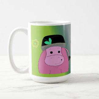 Happy as a Hippo - Hippopotamus Coffee Mug