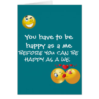 Happy as a we greeting card