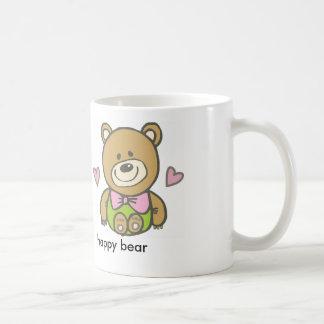 happy bear basic white mug