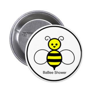 Happy Bee Baby Shower 6 Cm Round Badge