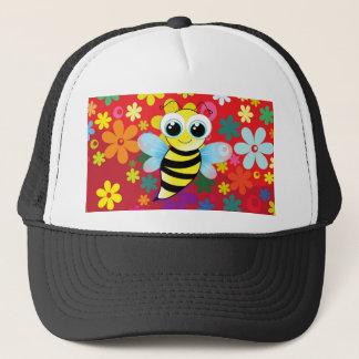 Happy bee trucker hat