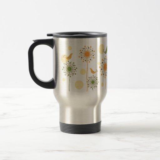 Happy Bird Design Travel Mug