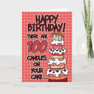100 Years Old Birthday Cards