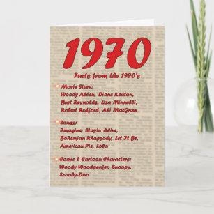 Happy Birthday 1970 Year of birth news 70's 70s Card