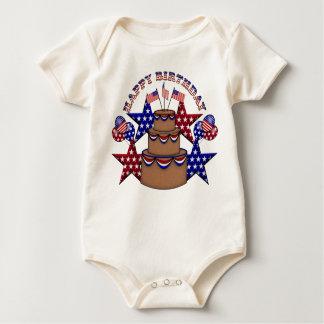 Happy Birthday 4th of July Baby Bodysuit