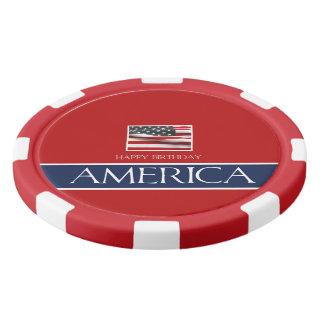 Happy Birthday America! Poker Chips