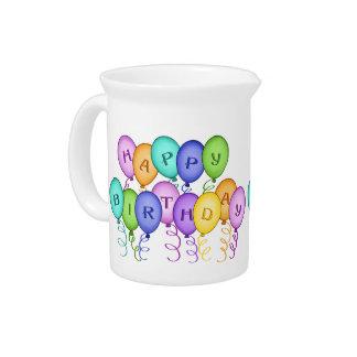 Happy Birthday Balloons Pitcher