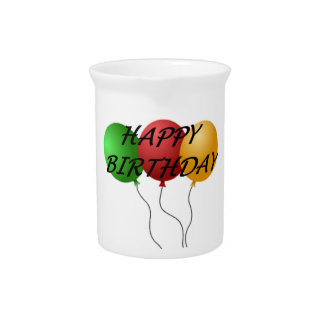 """HAPPY BIRTHDAY"" BALLOONS PITCHER"