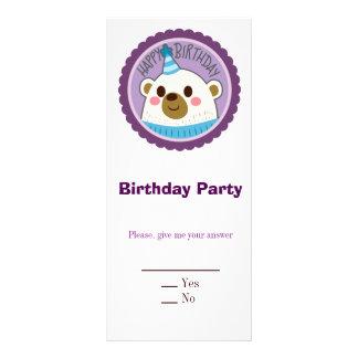 Happy Birthday Bear Full Color Rack Card