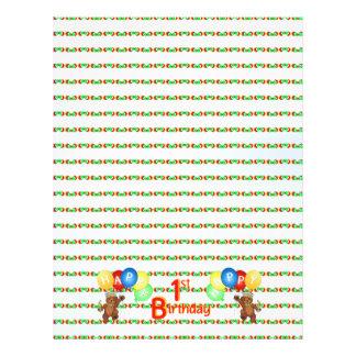 Happy Birthday Bear Scrapbook Paper 5 21.5 Cm X 28 Cm Flyer