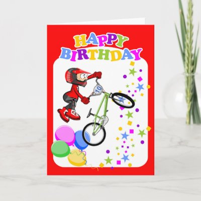 brave and extreme BMX rider Card