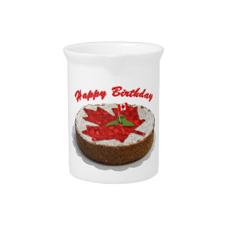 Happy Birthday Canada Cake Pitcher
