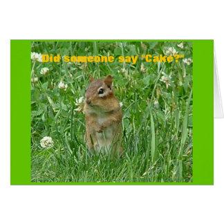 Happy Birthday Chipmunk Card