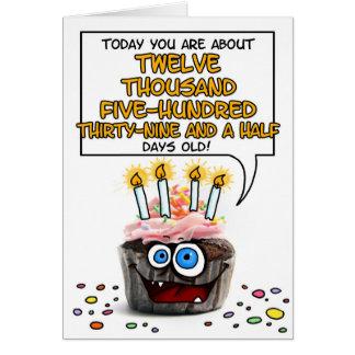 Happy Birthday Cupcake - 34 years old Card
