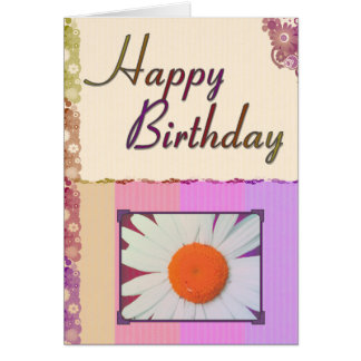 Happy Birthday Daisy Greeting Card