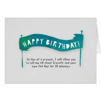 Happy Birthday - Diet Greeting Card