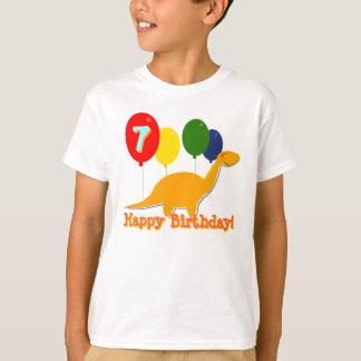 Happy Birthday Dinosaur 7 Years Balloons T-Shirt