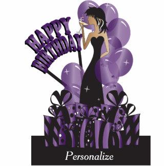 Happy Birthday Diva Girl | DIY Name | Purple Standing Photo Sculpture