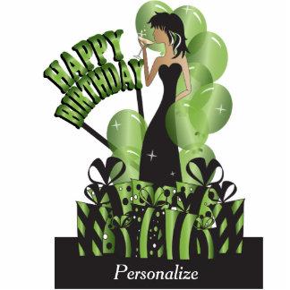 Happy Birthday Diva Party Girl- Peridot Photo Cut Outs