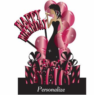 Happy Birthday Diva Party Girl - Ruby Photo Cutouts
