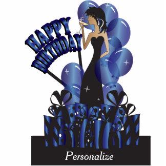 Happy Birthday Diva Party Girl- Sapphire Photo Cutout