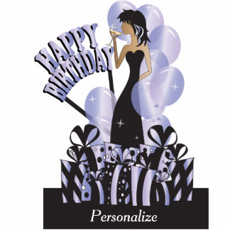 Happy Birthday Diva Party Girl- Tanzanite Cut Outs