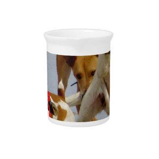 happy birthday dogs pitcher