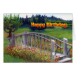 Happy Birthday Flowers & Footbridge - Ladybug Lane